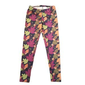 Lolly Wolly Doodle Legging Leaves Acorn Print